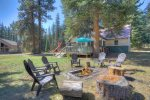 Fire Pit camp fire at Vallecito Lake vacation rental cabin near Durango Colorado