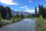 Vallecito Creek near the Lake in Southwest Colorado
