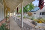 River House Villa vacation rental home in Downtown Durango covered porch