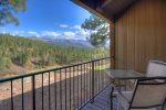 Balcony view at Durango Colorado vacation rental condo at Tamarron Golf Resort
