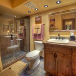 Bathroom in Durango Colorado vacation rental condo at Tamarron Golf Resort