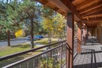 Durango Colorado vacation rental condo at Tamarron Golf Resort covered proch