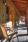 Covered front porch at Durango Colorado vacation rental condo at Tamarron Golf Resort