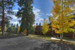Wooded gorunds of Durango Colorado vacation rental condo at Tamarron Golf Resort