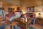 Living room in Durango Colorado vacation rental condo at Tamarron Golf Resort