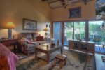 Durango Colorado vacation rental condo at Tamarron Golf Resort living room