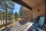 Tamarron Resort vacation rental condo Durango Colorado living room balcony