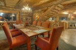 Dining room in Elk Mountain Retreat Durango Colorado vacation rental cabin