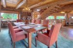 Durango Colorado vacation rental home Elk Mountain Retreat dining room