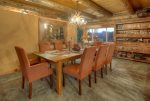 Patio BBQ grill and dining at Elk Mountain Retreat luxury vacation rental home in Durango Colorado