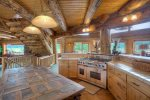Gourmet kitchen in Elk Mountain Retreat Durango Colorado vacation rental cabin