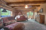 Bedroom in Durango Colorado vacation rental luxury cabin Elk Mountain Retreat