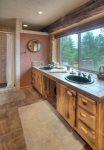 Bath in Durango Colorado vacation rental luxury cabin Elk Mountain Retreat