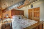 Durango Colorado vacation rental luxury cabin Elk Mountain Retreat bedroom