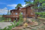 Mountain views from Elk Mountain Retreat luxury vacation rental home in Durango Colorado