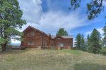 Durango Colorado luxury vacation rental log cabin home mountain views