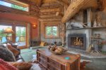 Great room in Durango Colorado luxury vacation rental log cabin