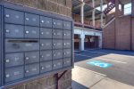 Mail boxes at downtown Durango Colorado vacation rental condo for rent Boulevard Condominiums