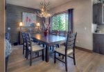 Durango Colorado vacation rental home near Purgatory Resort dining room