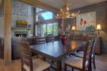 Dining room in Durango Colorado vacation rental home near Purgatory Resort