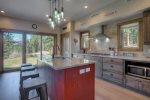 Gourmet kitchen in Durango Colorado vacation rental home near Purgatory Resort