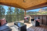 Castle Rock Retreat vacation rental home in Durango Colorado covered deck