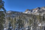 Snowy winter mountain views from Durango Colorado vacation rental home
