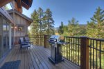 BBQ deck at Castle Rock Retreat vacation rental home in Durango Colorado