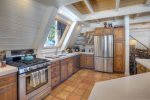 Kitchen in Durango Colorado vacation rental cabin mountain home