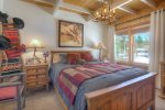 Bedroom in Alpine View vacation rental cabin in Durango Colorado