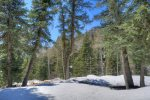 Winter snow at Durango Colorado vacation rental cabin near Purgatory Resort