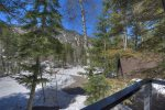 Durango Colorado vacation rental cabin near Purgatory Resort winter snow view