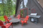 Alpine View vacation rental cabin Durango Colorado BBQ deck