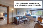 Combine these two vacation rental condos in Durango Colorado to create a larger suite