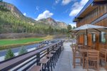 Golf clubhouse restaurant Tamarron Lodge vacation rental condo Durango Colorado