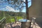 Outdoor seating at Tamarron Lodge vacation rental condos Durango Colorado