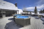 Outdoor hot tub deck at vacation rental condo near Purgatory Resort