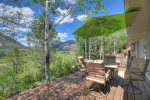 Living room in Valley View Retreat vacation rental home Durango Colorado