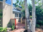 Driveway and parking at Valley View Retreat vacation rental home Durango Colorado