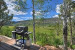 River and mountain views from Valley View Retreat vacation rental home Durango Colorado