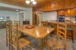 Dining room in Durango Colorado vacation rental home