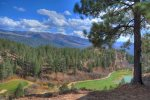 Mountain and golf course views from Tamarron vacation rental condo