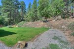 Backyard lawn at Durango Valley View vacation rental home