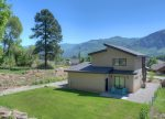 Durango Colorado vacation rental home backyard lawn and mountain view