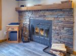 Fireplace in Durango Colorado vacation rental home at Ferringway Condominiums
