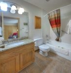 Master bath of Ferringway Condominiums vacation rental in Durango Colorado