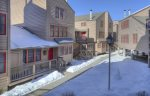 Colorado vacation rental at Durango Ferringway Condominiums winter snow in courtyard