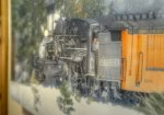 Train art in Ferringway Condominiums vacation rental Durango Colorado