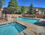 Hot tub and swimming pool at Ferringway Condominiums vacation rental in Durango Colorado