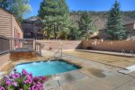 Hot tub of Durango Colorado vacation rental condo at Ferringway